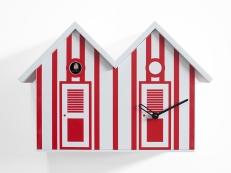 orologio-cucù-Bagni Nettuno-doppia-legno-estate-bibidesign